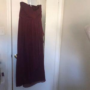 Amazing wine colored strapless dress!